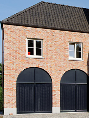 Porte-garage-noir PVC